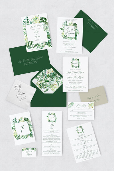 pirouettepaper.com | Wedding Stationery, Signage and Invitations | Pirouette Paper Company | Semi Custom Invitations | The Aloha 07