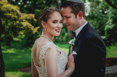 Bride & groom portraits at westchester wedding venue Tappan Hill Mansion