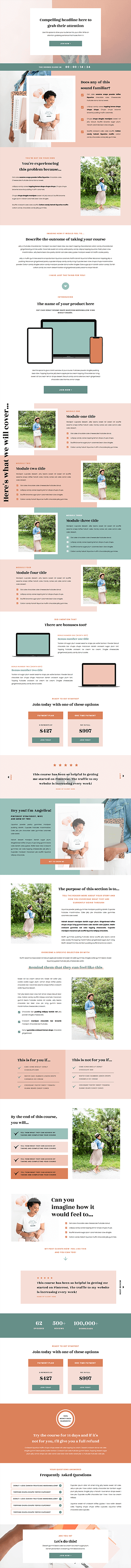 Angelica Showit sales page templates for coaches, creatives and photographers