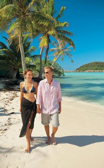 honeymoon bora bora older couple