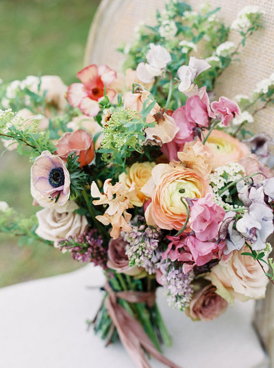 Wild flower bridal bouquet