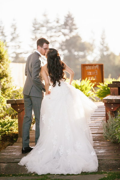 Wedding photgraph at Thomas Fogarty Winery