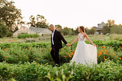 Flower field wedding maryland photographer