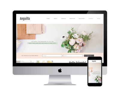 Anguilla  Showit website template
