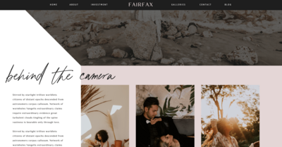 Fairfax Showit Website Template1