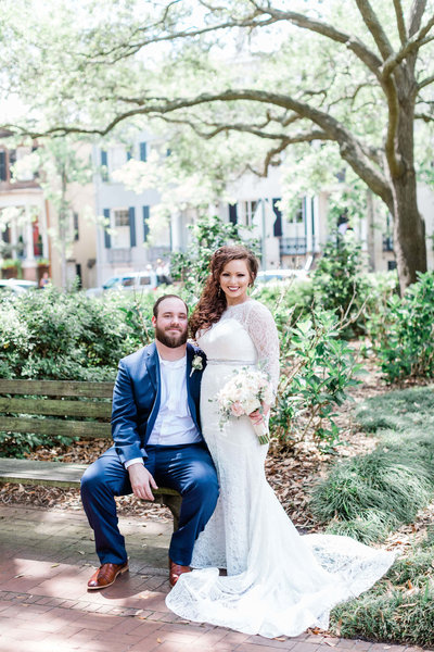 Lauren and Jacob's intimate wedding at The Brice Hotel in Savannah