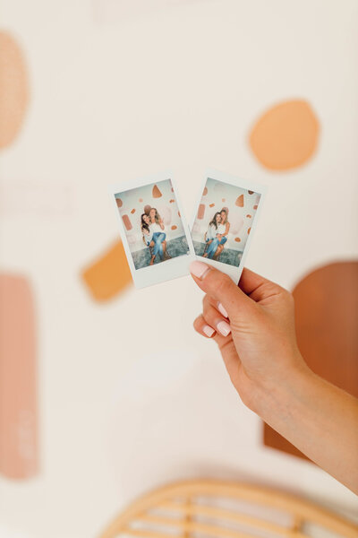 Polaroid photos Joelle took  in the boudoir studio with a boudoir client