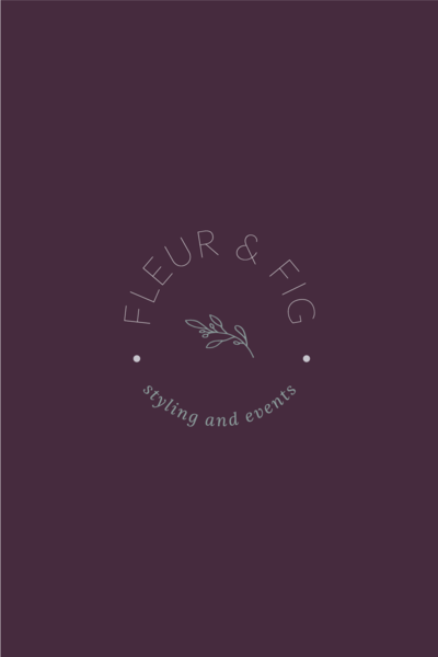 Fleur & Fig Secondary Logo | Wedding Stylist Branding and Website Design