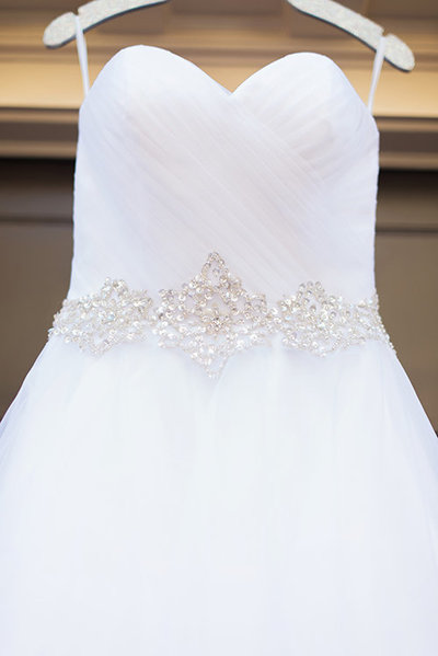 Strapless Wedding Ball Gown with Beaded Detail at DC Wedding