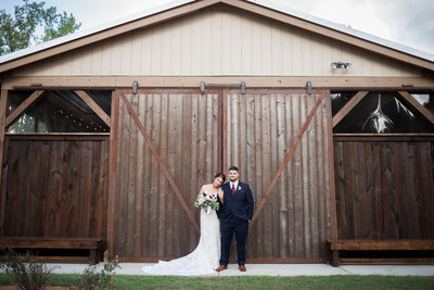 Georgia Wedding Couples Portrait at Barn