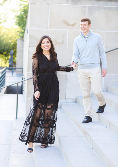 Engagement Photos at Nelson Atkins Museum -  Best Engagement Photographer Kansas City - Overland Park - Elopement Photographer