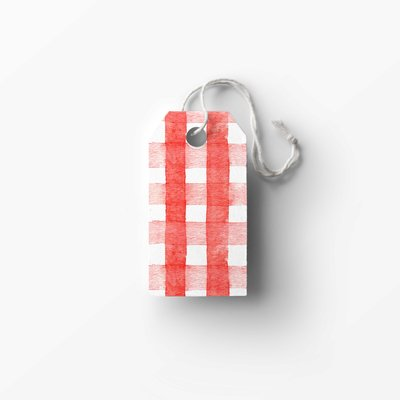 red gingham tag mockup low res