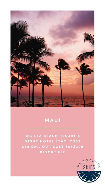 Free travel to Maui for family vacation