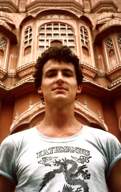 Harry Farthing in  India, 1985