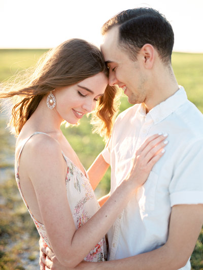 palm beach sunset field engagement photos-2