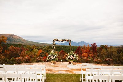 wedding ceremony site in mountains of virginia