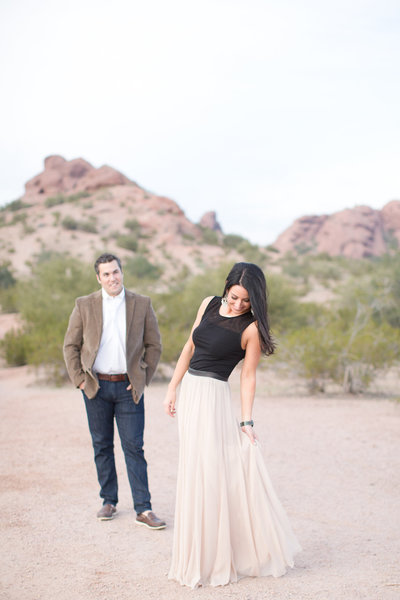Romantic Sunset Desert Engagement Session | Amy & Jordan Photography