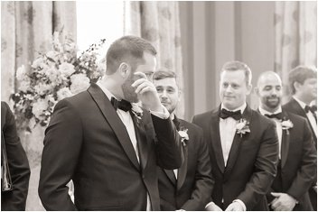 groom crying during ceremony at The Westin Poinsett