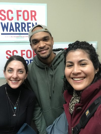 Warren campaign team