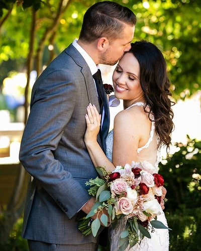 couple portrait garden wedding landmark vineyards napa valley
