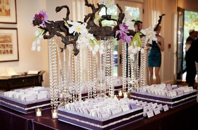 crystal place cards