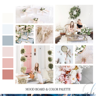 AK Brides Mood Board & Color Palette