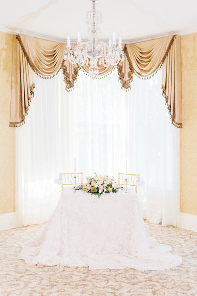 styled bridal session table scape