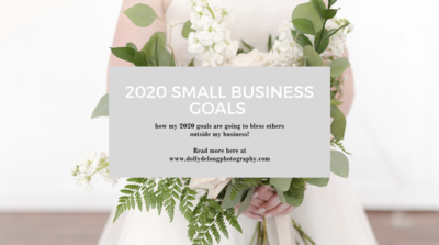 Dolly DeLong Photography Shares her Small Business Goals of 2020 blog post