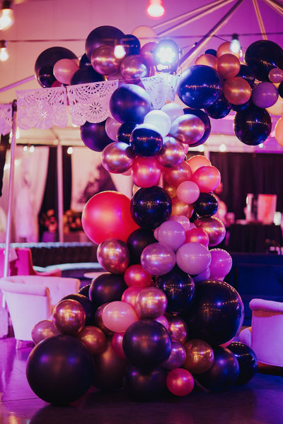 Marry Me Night Market balloon installation  by Rodeo Queen