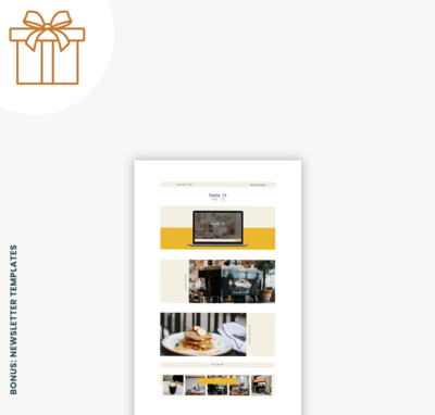 Bonusses in webshop-template newsletter