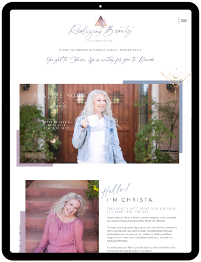Realizing-Beauty-Showit-Template