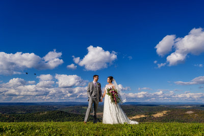 Bride and Groom at their wedding at Blue Mountain Resort in Pennsylvania