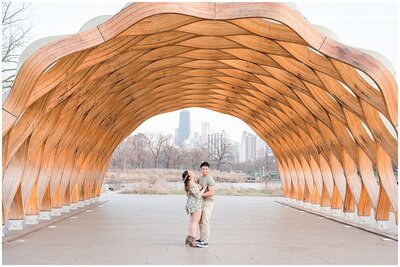 Spring engagement session in Lincoln Park
