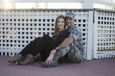 military couples session