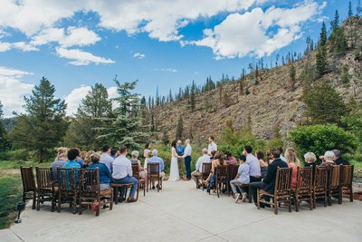 Small outdoor ceremony for a Breckenridge Colorado destination wedding
