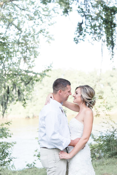 intimate wedding on the alabama river