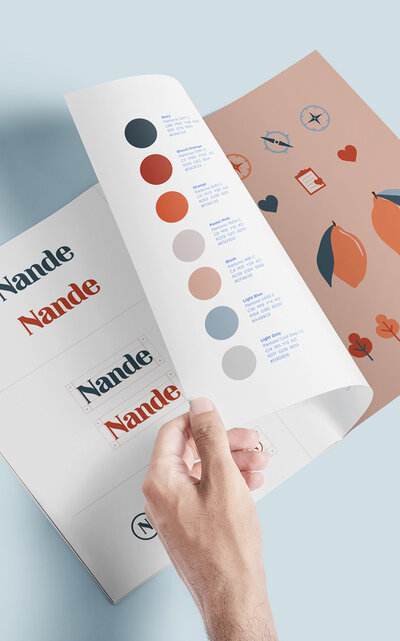 Brand Guide for Nande, featured work by Sung & Co