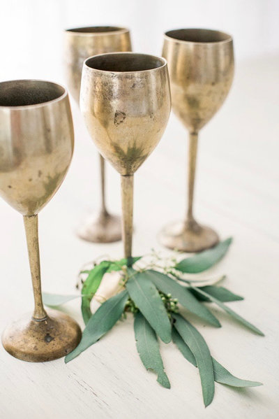 brass-goblets-wine-glasses-hawaii-rentals