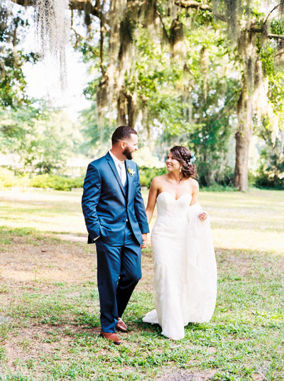 Bride and Groom Wrightsville Manor Film Photography