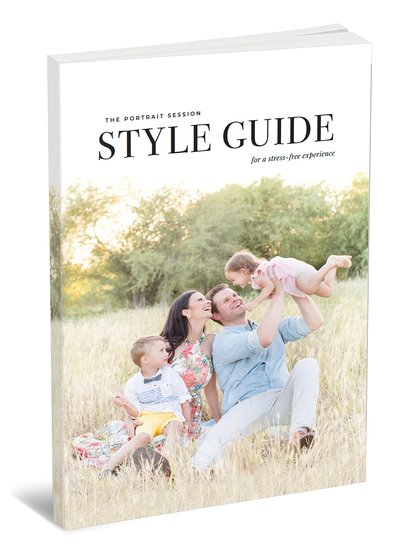 Portrait Session Style Guide | Resource for portrait and wedding photographers from Amy & Jordan