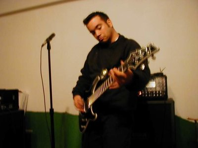 David Castillo of Expose The Heart Photography playing his Mesa Boogie Triple Rectified at a band practice session