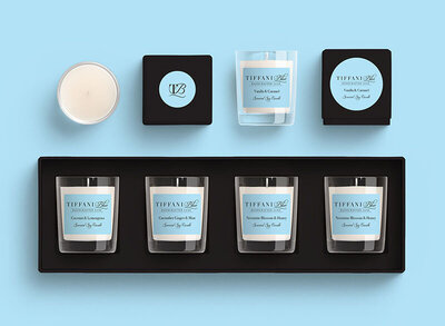 Tiffani Blue Candles by The Brand Advisory