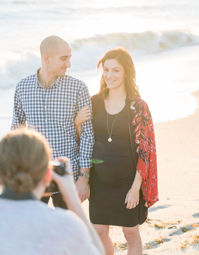 Charlotte Maternity photographer shot of beach in florida