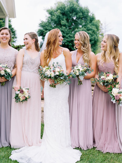 Lavender and Mauve Bridesmaid dresses