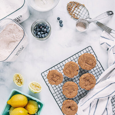 ingredient flay lay by food photographer, Nancy Ingersoll