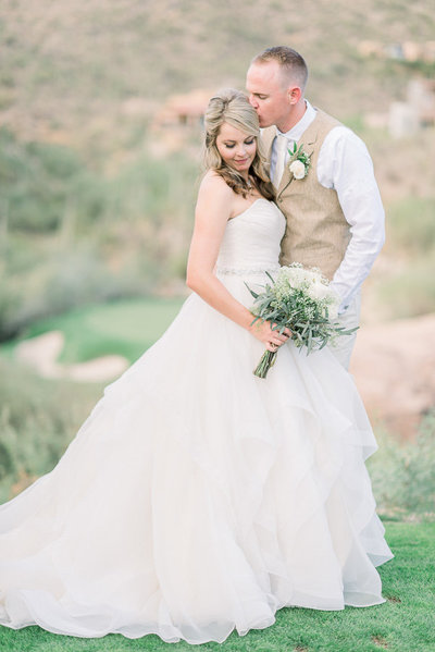The Lodge at Ventana Canyon wedding photo of bride and groom | Tucson Wedding Photographer | Bryan and Anh of West End Photography