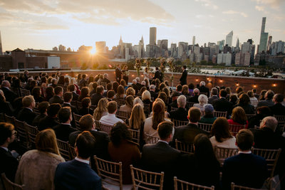 rooftop manhattan views wedding venue bordone sunset ceremony
