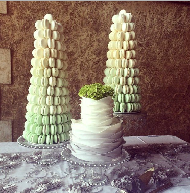 Traditional styrofoam base Macaron Tower