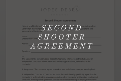 Second Shooter Agreement Hover