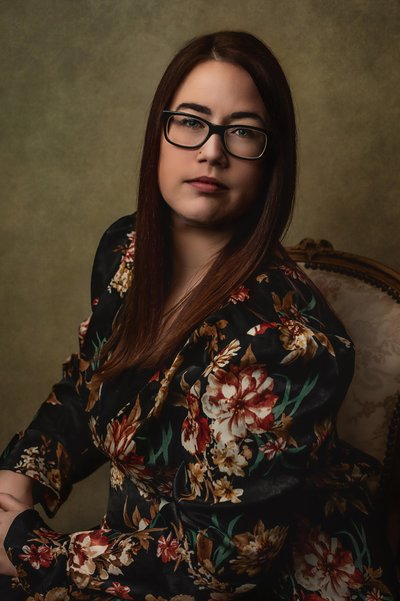 Susan_Floral Top-Fine Art Portrait-Dallas